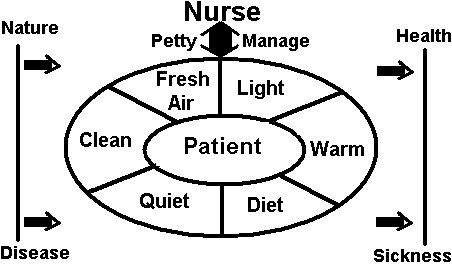 critique of florence nightingale s environmental theory Environment poor or difficult environments led to poor health and disease incorporating florence nightingale's theory of nursing into teaching a group of preadolescent children about negative peer pressure conclusion.